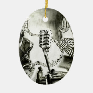 Big Jazz Ceramic Oval Ornament