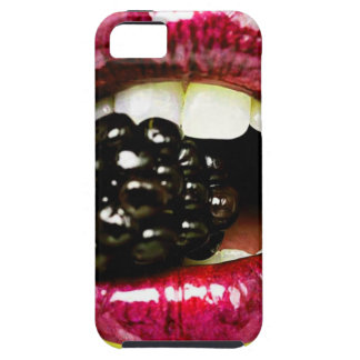 Big Juicy Lips Biting a Big Juicy Blackberry iPhone 5 Cover
