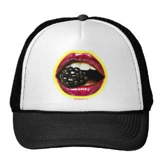 Big Juicy Lips Biting a Big Juicy Blackberry Trucker Hat