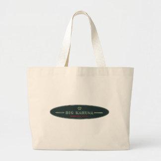 Big Kahuna Straight HI Style Board Outline Large Tote Bag