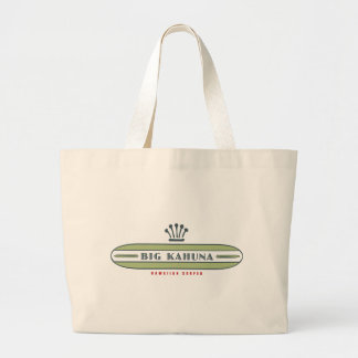 Big Kahuna Straight HI Surfer Large Tote Bag