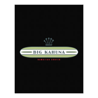 Big Kahuna Straight HI Surfer Letterhead