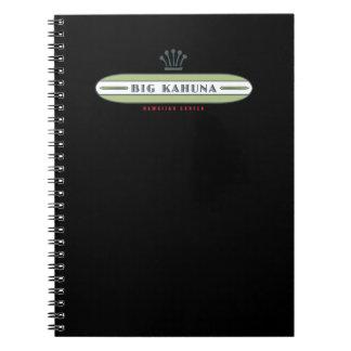 Big Kahuna Straight HI Surfer Spiral Notebook
