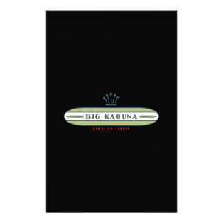 Big Kahuna Straight HI Surfer Stationery