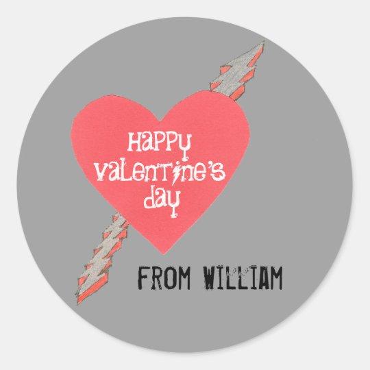 Big kid Valentine sticker