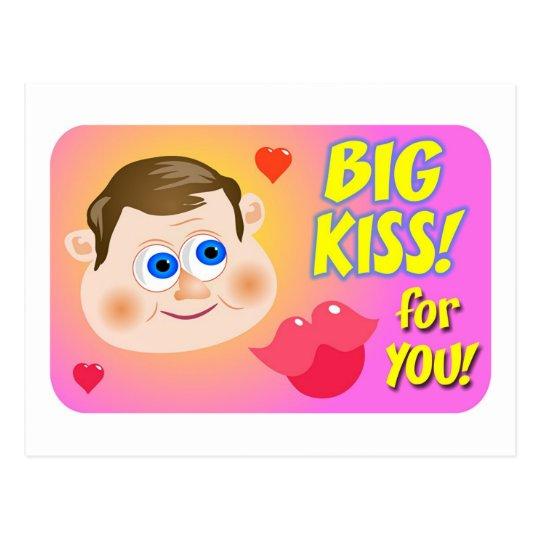 Big Kiss! Postcard