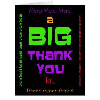 Big Large Thank You Cards Custom