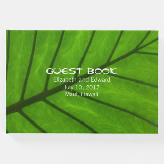 Big Leaf Tropical Wedding Guest Book