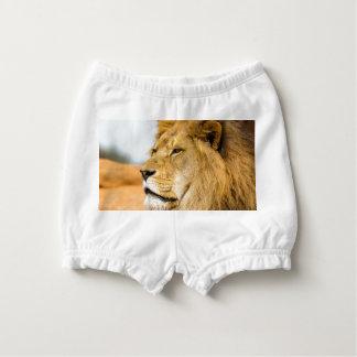 Big lion looking far away diaper cover