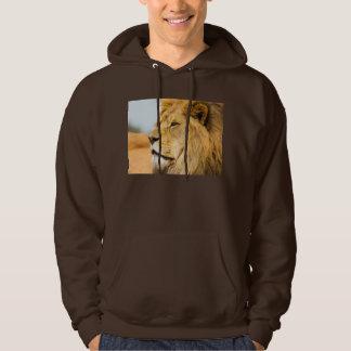 Big lion looking far away hoodie