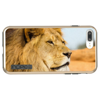 Big lion looking far away incipio DualPro shine iPhone 8 plus/7 plus case