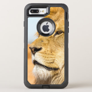 Big lion looking far away OtterBox defender iPhone 8 plus/7 plus case