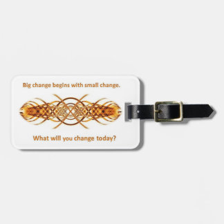 Big Little Change luggage tag - gold