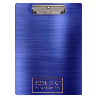 Big Logo Sapphire Cobalt Blue Metallic Lux Clipboard