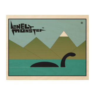 Big Lonely Monster on a Mission Wood Print