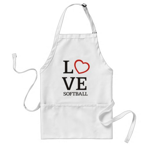 Big LOVE Softball Apron