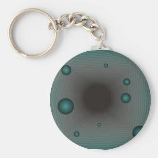 Big Machine wormhole science fiction black hole Basic Round Button Keychain