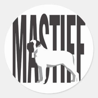 Big MASTIFF Round Sticker