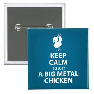 Big metal chicken button
