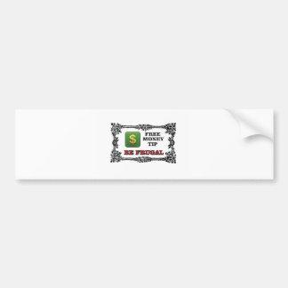 big money tip bumper sticker