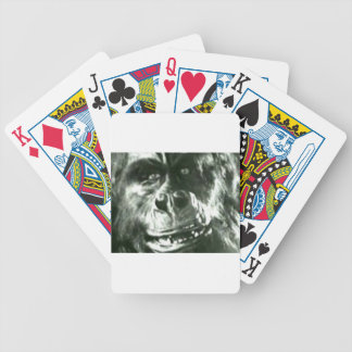 Big Monkey Face Bicycle Playing Cards