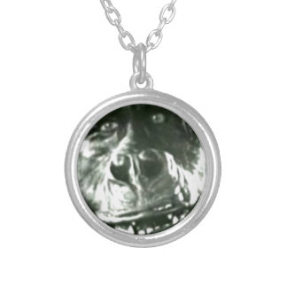 Big Monkey Face Silver Plated Necklace
