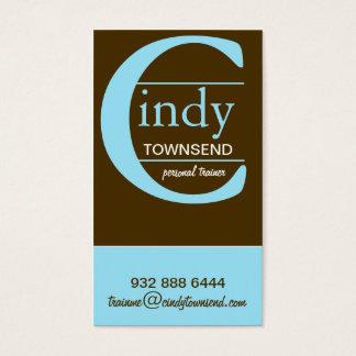 Big Monogram Business Card