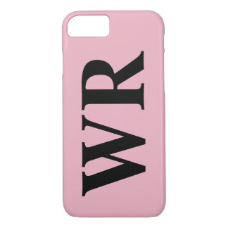Big Monogram Letters Black and Pink Bold Style iPhone 7 Case