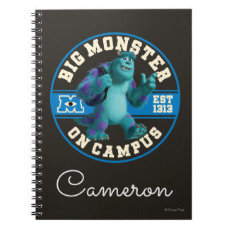 Big Monster on Campus - Personalized Spiral Notebooks