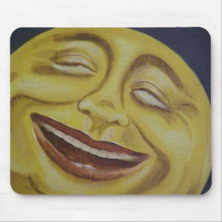 Big Moon Face Mouse Pad