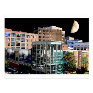 Big Moon Hanging over Kansas City Postcard