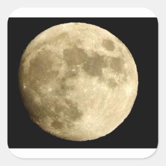 big moon square sticker