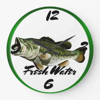 Big  Mouth Bass Large Clock