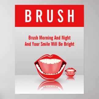 Big Mouth BRUSH Dental Dentist Poster