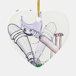 BIG MOUTH - cricket, tony fernandes Ceramic Heart Ornament