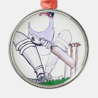 BIG MOUTH - cricket, tony fernandes Silver-Colored Round Ornament