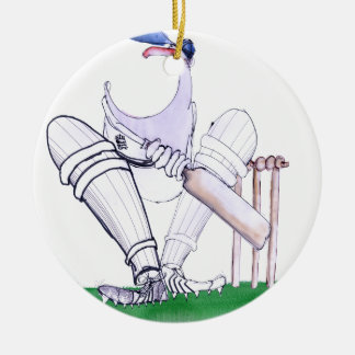 BIG MOUTH - cricket, tony fernandes Round Ceramic Ornament