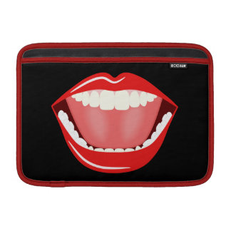 Big Mouth Cute Funny 11 Inch Macbook Air Sleeves