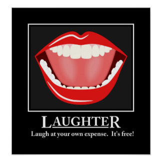 Big Mouth Funny Humor Laughter Motivational Poster
