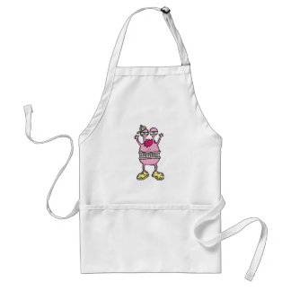 big mouth funny monster aprons