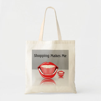 Big Mouth Humor Budget Funny Shopping Tote Bags