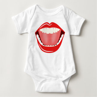 Big Mouth Humor Smiling Funny Babies T-Shirt