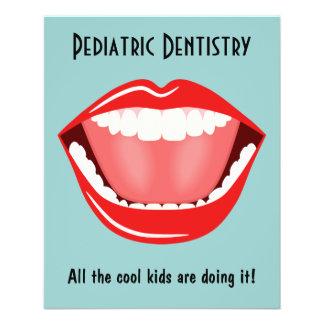Big Mouth Small Dentist Dentistry Dental Blue Flyer