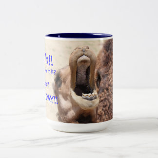 Big Mouthed Camel, Hump Day Blue Mug