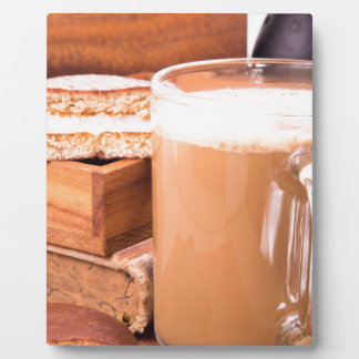 Big mug of hot cocoa with foam plaque