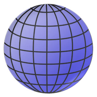 Big Network Globe Plate