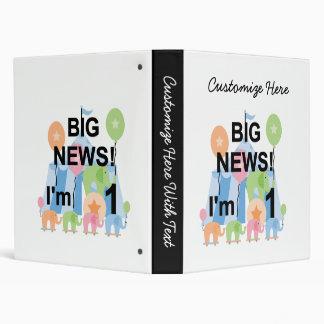 Big News Circus 1st Birthday T-shirts and Gifts 3 Ring Binders