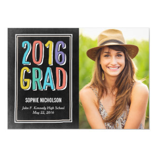 Big News Graduation Announcement Invitation Chalk