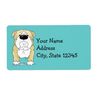 Big Nose Bulldog Shipping Label