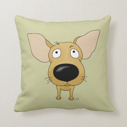Big Nose Chihuahua Throw Pillow
